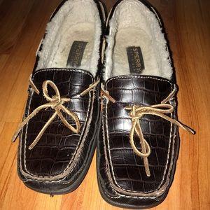 Sperry fur lined loafers women's sz 7.5